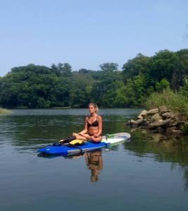 Paddle boarding meditation
